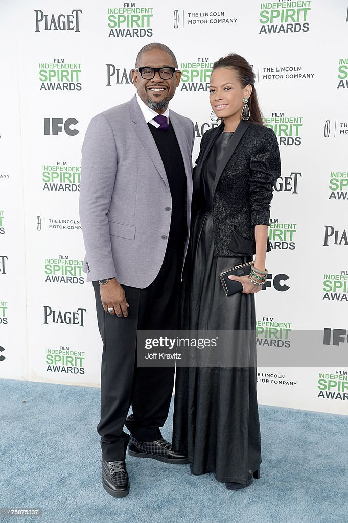 Actor Forest Whitaker and wife, Keisha Whitaker attend the 2014 Film Independent Spirit Awards on March 1, 2014 in Santa Monica, California.