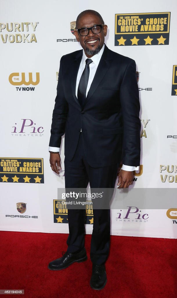 Actor Forest Whitaker attends the 19th Annual Critics' Choice Movie Awards at Barker Hangar on January 16, 2014 in Santa Monica, California.