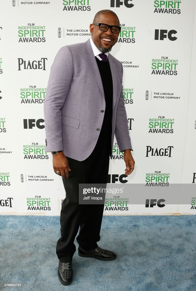 Actor <a gi-track='captionPersonalityLinkClicked' href=/galleries/search?phrase=Forest+Whitaker&family=editorial&specificpeople=226590 ng-click='$event.stopPropagation()'>Forest Whitaker</a> attends the 2014 Film Independent Spirit Awards at Santa Monica Beach on March 1, 2014 in Santa Monica, California.