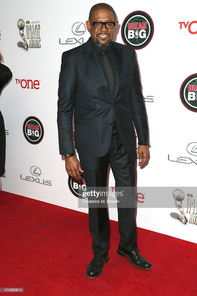 Actor <a gi-track='captionPersonalityLinkClicked' href=/galleries/search?phrase=Forest+Whitaker&family=editorial&specificpeople=226590 ng-click='$event.stopPropagation()'>Forest Whitaker</a> attends the 45th NAACP Image Awards presented by TV One at Pasadena Civic Auditorium on February 22, 2014 in Pasadena, California.