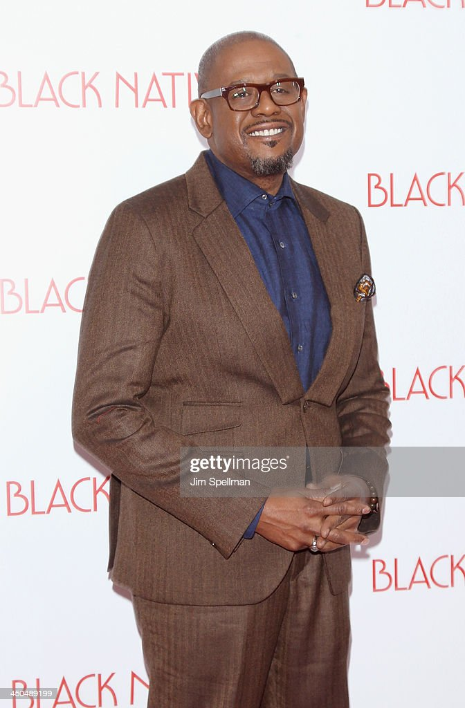 Actor <a gi-track='captionPersonalityLinkClicked' href=/galleries/search?phrase=Forest+Whitaker&family=editorial&specificpeople=226590 ng-click='$event.stopPropagation()'>Forest Whitaker</a> attends the 'Black Nativity' premiere at The Apollo Theater on November 18, 2013 in New York City.