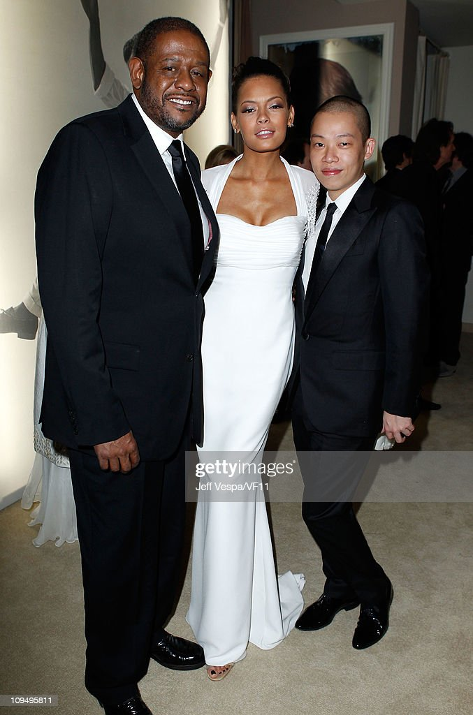 Actor <a gi-track='captionPersonalityLinkClicked' href=/galleries/search?phrase=Forest+Whitaker&family=editorial&specificpeople=226590 ng-click='$event.stopPropagation()'>Forest Whitaker</a>, <a gi-track='captionPersonalityLinkClicked' href=/galleries/search?phrase=Keisha+Whitaker&family=editorial&specificpeople=662393 ng-click='$event.stopPropagation()'>Keisha Whitaker</a> and designer Jason Wu attend the 2011 Vanity Fair Oscar Party Hosted by Graydon Carter at the Sunset Tower Hotel on February 27, 2011 in West Hollywood, California.
