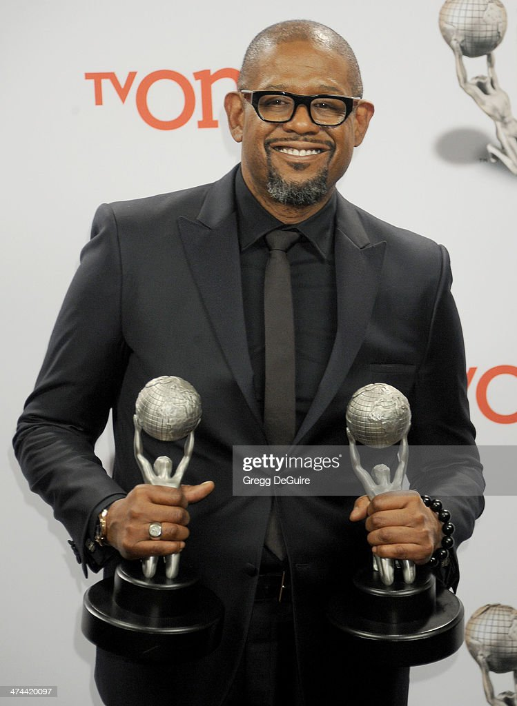 Actor <a gi-track='captionPersonalityLinkClicked' href=/galleries/search?phrase=Forest+Whitaker&family=editorial&specificpeople=226590 ng-click='$event.stopPropagation()'>Forest Whitaker</a> poses in the press room at the 45th NAACP Image Awards at Pasadena Civic Auditorium on February 22, 2014 in Pasadena, California.