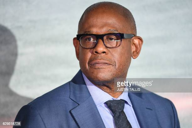 US actor Forest Whitaker poses upon arrival at the UK launch event of Lucasfilm's 'Rogue One A Star Wars Story' at the Tate Modern in central London...