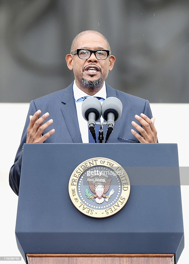 Actor <a gi-track='captionPersonalityLinkClicked' href=/galleries/search?phrase=Forest+Whitaker&family=editorial&specificpeople=226590 ng-click='$event.stopPropagation()'>Forest Whitaker</a> speaks during the Let Freedom Ring ceremony at the Lincoln Memorial August 28, 2013 in Washington, DC. The event was to commemorate the 50th anniversary of Dr. Martin Luther King Jr.'s 'I Have a Dream' speech and the March on Washington for Jobs and Freedom.