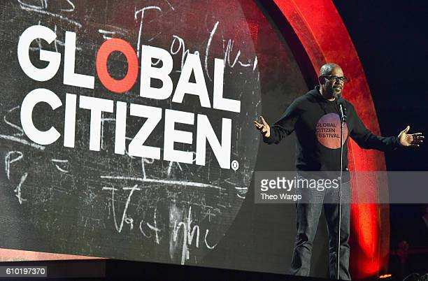Actor Forest Whitaker speaks onstage at the 2016 Global Citizen Festival In Central Park To End Extreme Poverty By 2030 at Central Park on September...