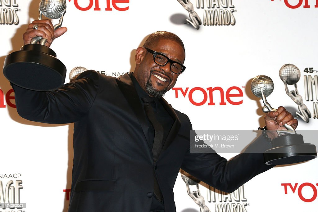Actor <a gi-track='captionPersonalityLinkClicked' href=/galleries/search?phrase=Forest+Whitaker&family=editorial&specificpeople=226590 ng-click='$event.stopPropagation()'>Forest Whitaker</a>, winner of the Outstanding Actor in a Motion Picture award for 'Lee Daniels' The Butler' and the NAACP Chairman's Award, poses in the press room during the 45th NAACP Image Awards presented by TV One at Pasadena Civic Auditorium on February 22, 2014 in Pasadena, California.