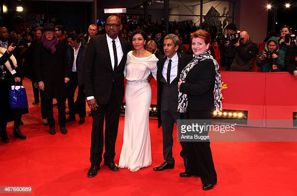 'Actor Forest Whittaker actress Dolores Héredia director Rachid Bouchareb and actress Brenda Blethyn attend the 'Two Men in Town' premiere during...