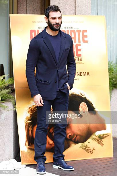 actor Francesco Arca attends 'Fasten your Seatbelts' photocall in Rome Visconti Palace