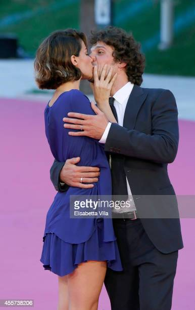 Actor Francesco Montanari and Andrea Delogu attend Roma Fiction Fest 2014 Closing Ceremony Pink Carpet at Auditorium Parco Della Musica on September...