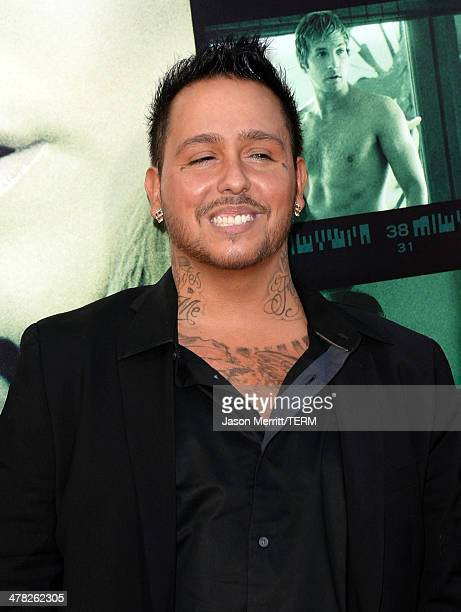 Actor Francis Capra arrives at the Los Angeles premiere of 'Veronica Mars' at TCL Chinese Theatre on March 12 2014 in Hollywood California