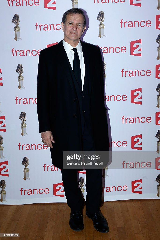 Actor Francis Huster attends the 27th 'Nuit Des Molieres' 2015. Held at Folies Bergere on April 27, 2015 in Paris, France.