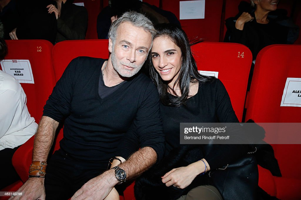 Actor <a gi-track='captionPersonalityLinkClicked' href=/galleries/search?phrase=Franck+Dubosc&family=editorial&specificpeople=609327 ng-click='$event.stopPropagation()'>Franck Dubosc</a> and his wife Daniele attend the 'Bis' Movie Paris Premiere at Cinema Gaumont Capucine on February 10, 2015 in Paris, France.