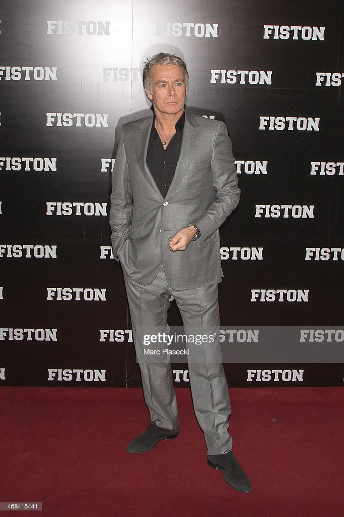 Actor <a gi-track='captionPersonalityLinkClicked' href=/galleries/search?phrase=Franck+Dubosc&family=editorial&specificpeople=609327 ng-click='$event.stopPropagation()'>Franck Dubosc</a> attends the 'Fiston' Paris Premiere at Le Grand Rex on February 10, 2014 in Paris, France.