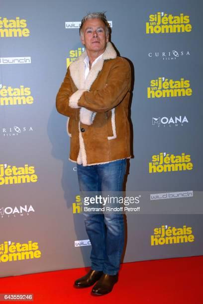 Actor Franck Dubosc attends the 'Si j'etais un Homme' Paris Premiere at Cinema Gaumont Opera on February 21 2017 in Paris France