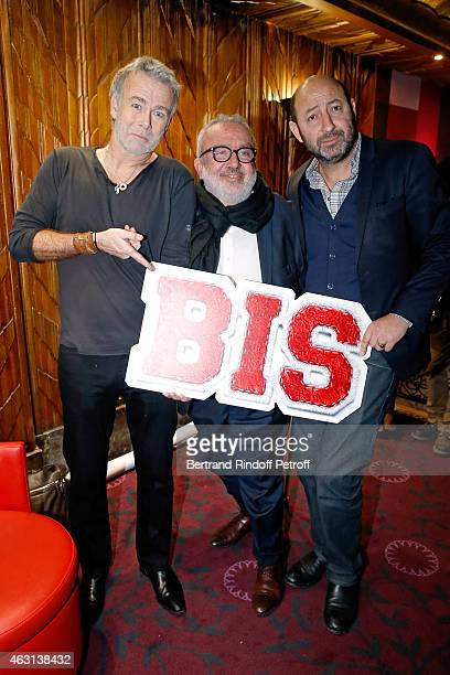 Actor Franck Dubosc Director of the movie Dominique Farrugia and Actor Kad Merad attend the 'Bis' Movie Paris Premiere at Cinema Gaumont Capucine on...