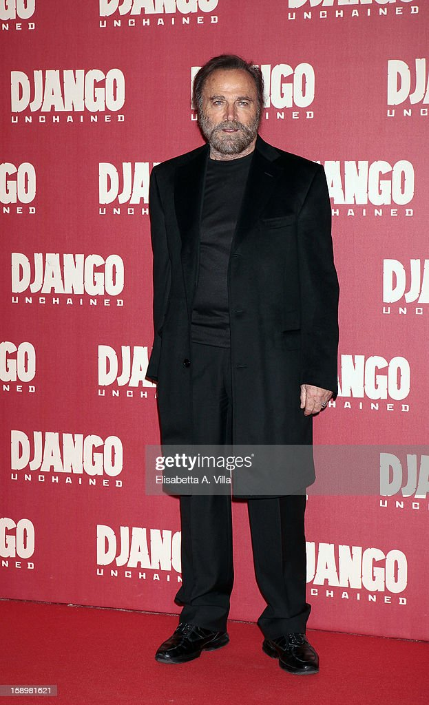 Actor Franco Nero attends 'Django Unchained' premiere at Cinema Adriano on January 4, 2013 in Rome, Italy.