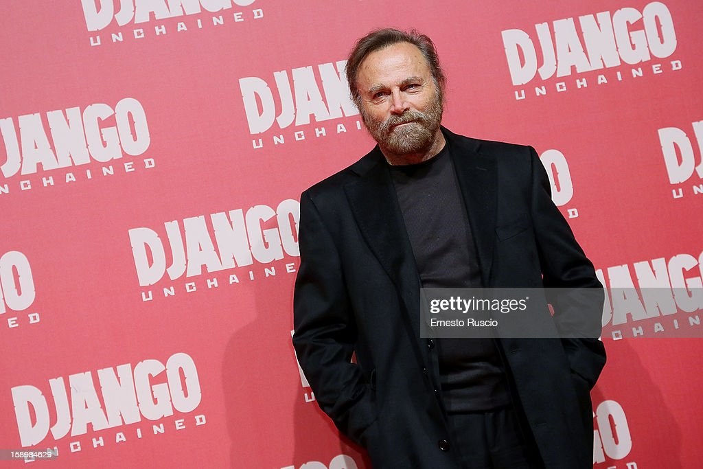 Actor Franco Nero attends the 'Django Unchained' premiere at Cinema Adriano on January 4, 2013 in Rome, Italy.