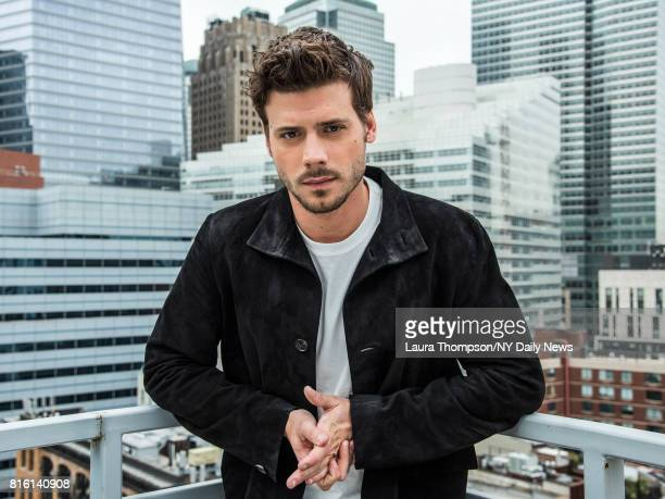 Actor Francois Arnaud photographed for NY Daily News on April 24 in New York City