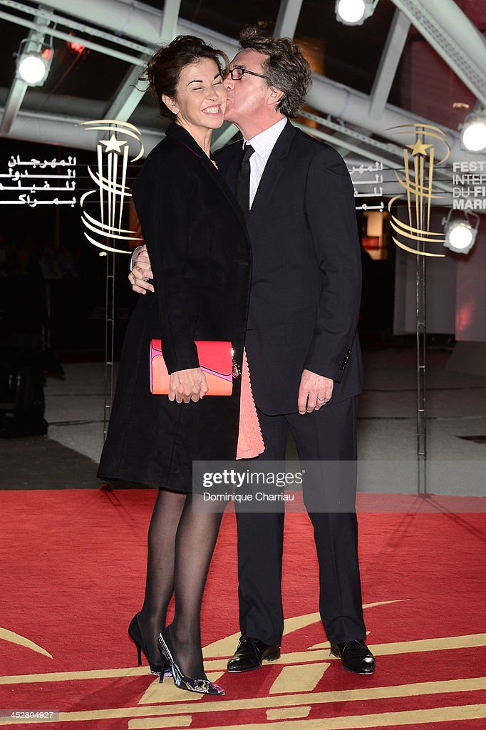 Actor <a gi-track='captionPersonalityLinkClicked' href=/galleries/search?phrase=Francois+Cluzet&family=editorial&specificpeople=626602 ng-click='$event.stopPropagation()'>Francois Cluzet</a> and his wife Narjiss attend the 'Like Father, Like Son' premiere during the 13th Marrakech International Film Festival on December 1, 2013 in Marrakech, Morocco.