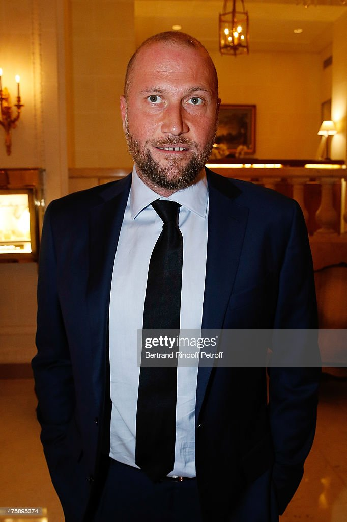 Actor Francois Damiens attends the Charity Dinner benefit the Maud Fontenoy Foundation for Preserve Oceans at Hotel Bristol on June 4, 2015 in Paris, France.