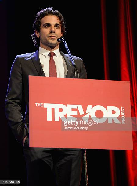 Actor Frank De Julio speaks onstage at the Trevor Project's 2014 'TrevorLIVE NY' Event at the Marriott Marquis Hotel on June 16 2014 in New York City