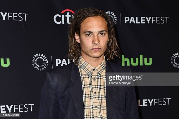 Actor Frank Dillane arrives at The Paley Center For Media's 33rd Annual PaleyFest Los Angeles presentation of 'Fear The Walking Dead' at Dolby...