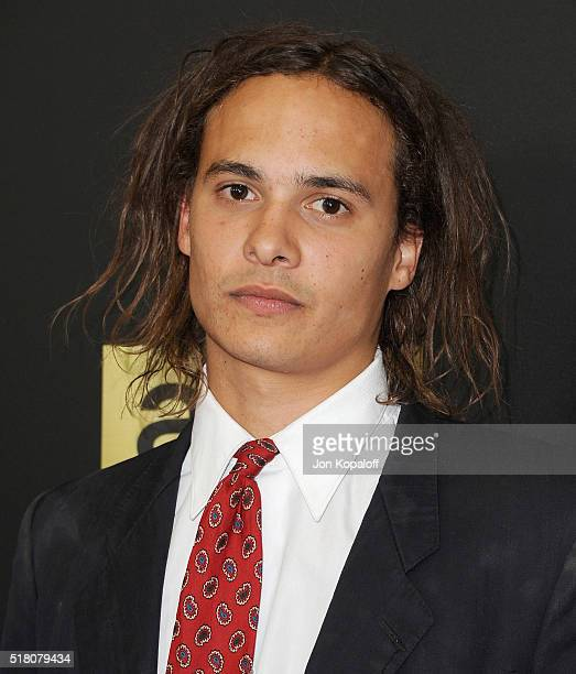 Actor Frank Dillane arrives at the premiere Of AMC's 'Fear The Walking Dead' Season 2 at Cinemark Playa Vista on March 29 2016 in Los Angeles...