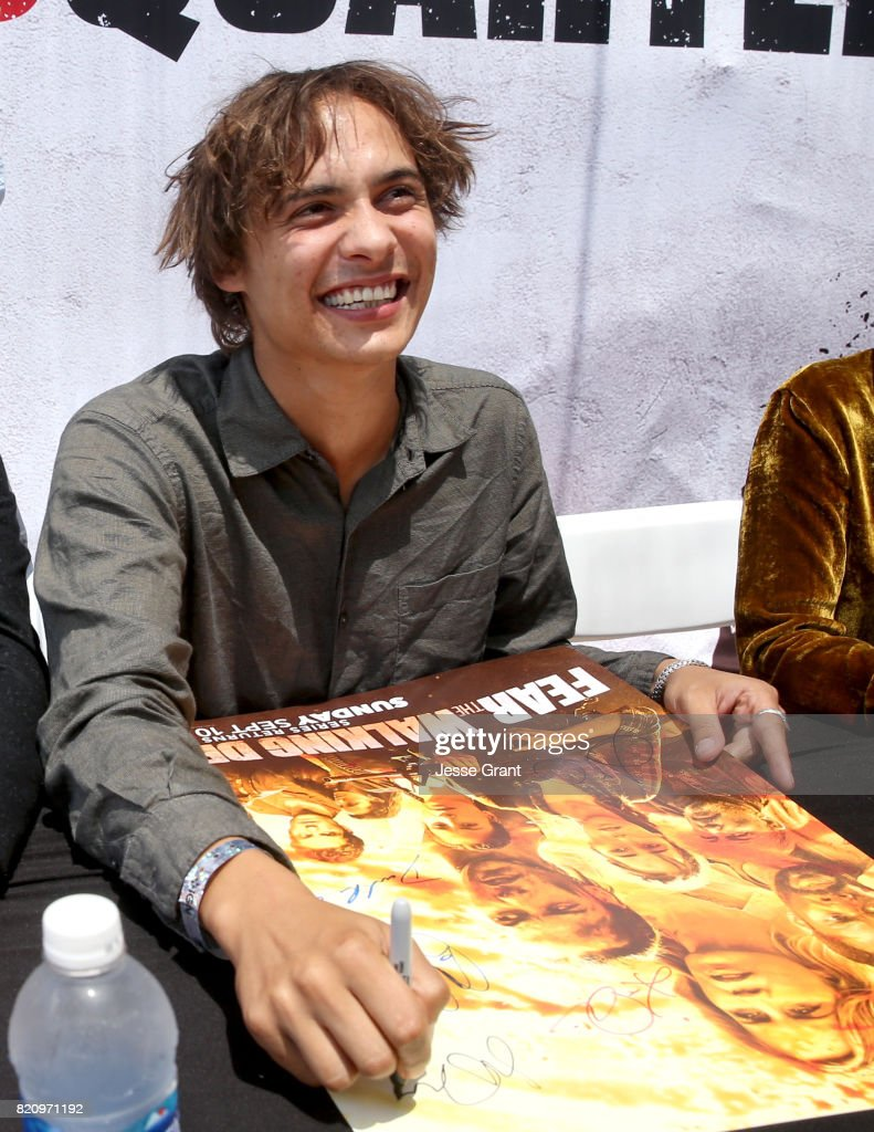 Actor Frank Dillane at the 'Fear the Walking Dead' Autograph Signing during AMC At Comic Con 2017 - Day 3 on July 22, 2017 in San Diego, California.