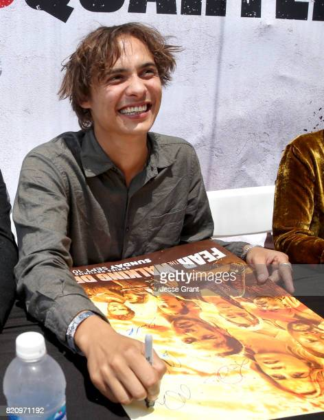 Actor Frank Dillane at the 'Fear the Walking Dead' Autograph Signing during AMC At Comic Con 2017 Day 3 on July 22 2017 in San Diego California