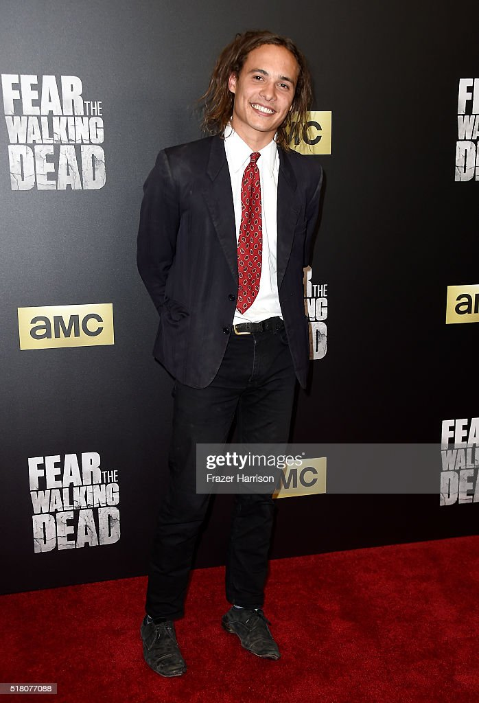Actor Frank Dillane attends the premiere of AMC's 'Fear The Walking Dead' Season 2 at Cinemark Playa Vista on March 29, 2016 in Los Angeles, California.