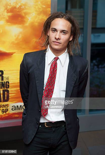 Actor Frank Dillane attends the premiere of AMC's 'Fear The Walking Dead' Season 2 at Cinemark Playa Vista on March 29 2016 in Los Angeles California