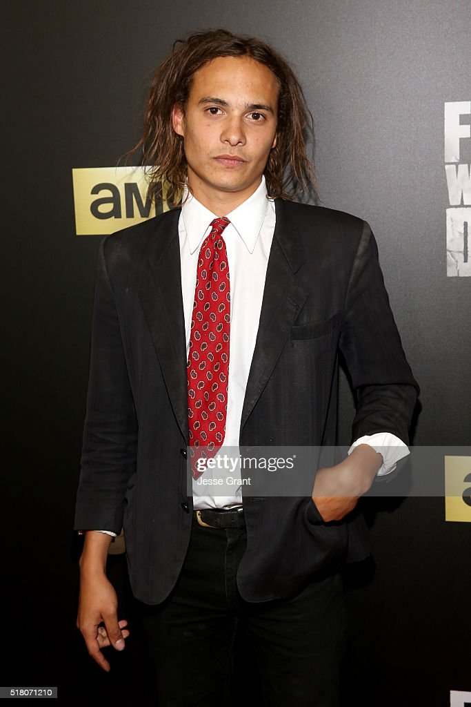 Actor Frank Dillane attends the season 2 premiere of 'Fear the Walking Dead' at Cinemark Playa Vista on March 29, 2016 in Los Angeles, California.