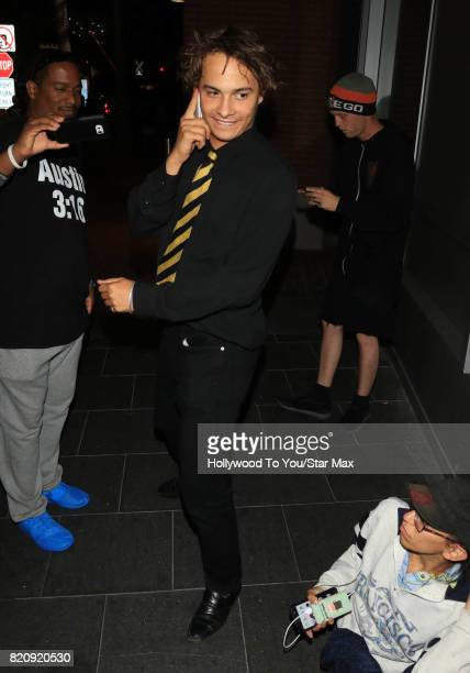 Actor Frank Dillane is seen on July 21 2017 at Comic Con in San Diego CA