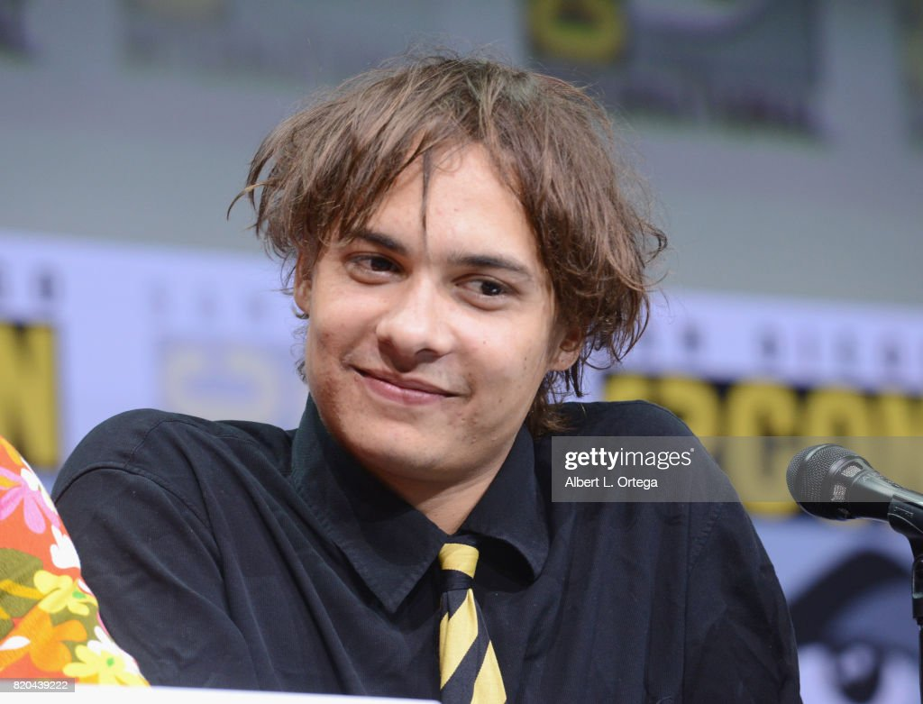 Actor Frank Dillane speaks onstage at Comic-Con International 2017 AMC's 'Fear The Walking Dead' Panel at San Diego Convention Center on July 21, 2017 in San Diego, California.