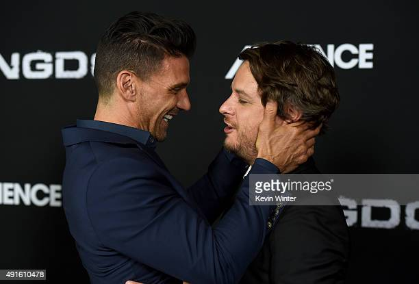 Actor Frank Grillo and creator/EP Byron Balasco attend the premiere of DIRECTV's 'Kingdom' Season 2 at SilverScreen Theater at the Pacific Design...