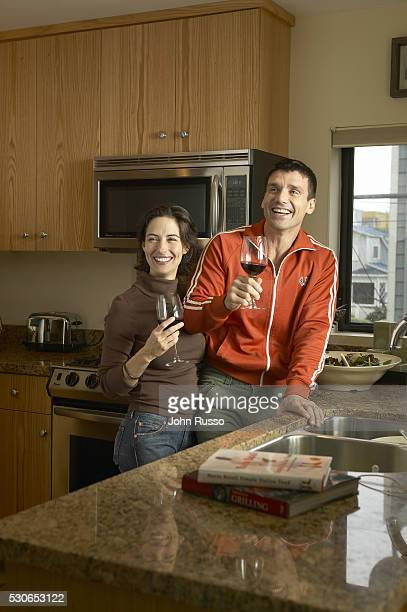 Actor Frank Grillo and Wendy Moniz are photographed on January 8 2005 at home