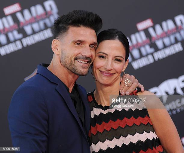 Actor Frank Grillo and Wendy Moniz Grillo arrive at the premiere of Marvel's 'Captain America Civil War' on April 12 2016 in Hollywood California