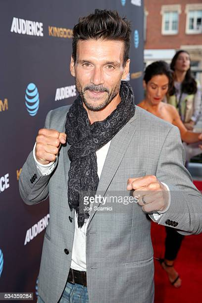 Actor Frank Grillo attends as ATT Audience Network celebrates KINGDOM on May 25 2016 in Los Angeles California