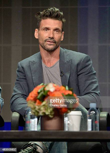 Actor Frank Grillo speaks onstage during the DIRECTV's presentation of KINGDOM at the 2015 Summer TCA Press Tour at The Beverly Hilton Hotel on...