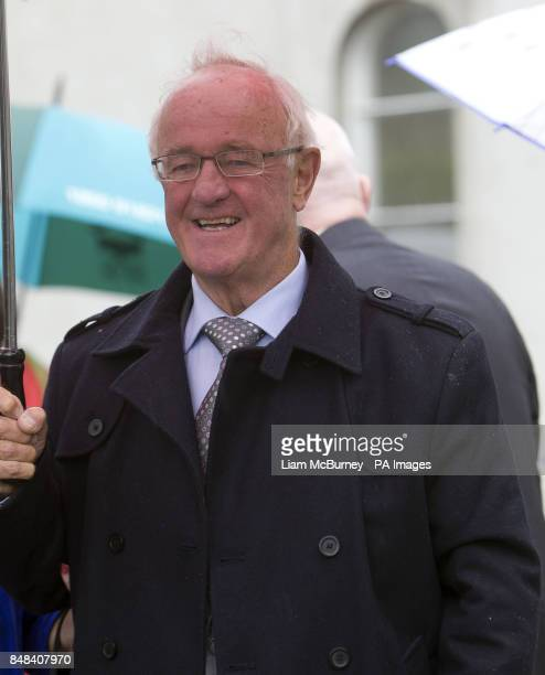 Actor Frank Kelly attends the funeral of Maeve Binchy at the Church of the Assumption Dalkey south Dublin