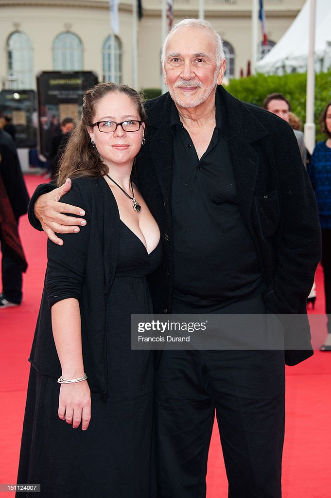 US actor <a gi-track='captionPersonalityLinkClicked' href=/galleries/search?phrase=Frank+Langella&family=editorial&specificpeople=223970 ng-click='$event.stopPropagation()'>Frank Langella</a> and guest arrive for the premiere of the film 'The Bourne Legacy' during 38th Deauville American Film Festival on September 1, 2012 in Deauville, France.