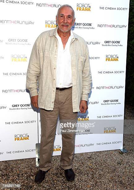 Actor Frank Langella attends The Cinema Society Rent the Runway host a screening of Samuel Goldwyn Films' 'Robot Frank' on July 27 2012 in East...