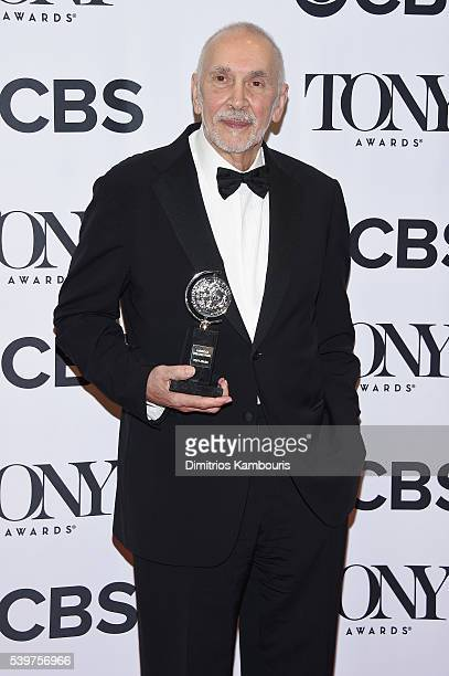 Actor Frank Langella poses with the award for Best Performance by a Leading Actor in a Play during the 70th Annual Tony Awards at The Beacon Theatre...