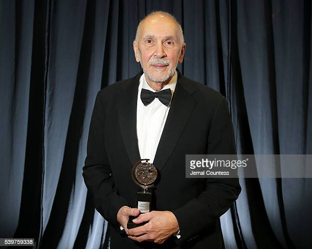 Actor Frank Langella poses with the award for Best Performance by a Leading Actor in a Play during the 2016 Tony Awards at The Beacon Theatre on June...