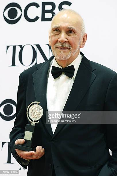 Actor Frank Langella poses with the award for Best Performance by a Leading Actor in a Play at the 70th Annual Tony Awards at The Beacon Theatre on...