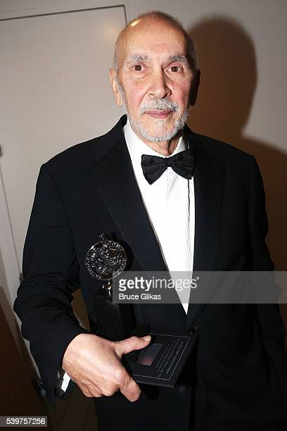 Actor Frank Langella poses with the award for Best Performance by an Actor in a Leading Role in a Play at the 70th Annual Tony Awards Press Room at...