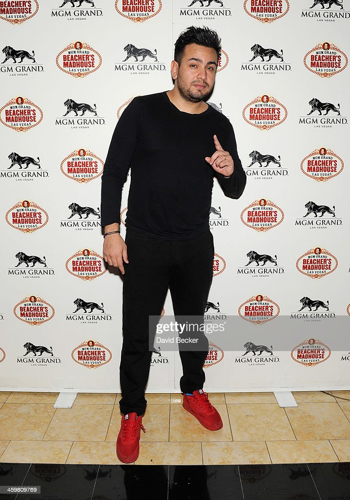 Actor <a gi-track='captionPersonalityLinkClicked' href=/galleries/search?phrase=Frankie+Delgado&family=editorial&specificpeople=4050851 ng-click='$event.stopPropagation()'>Frankie Delgado</a> arrives at the opening weekend celebration at Beacher's Madhouse Las Vegas at the MGM Grand Hotel/Casino on December 30, 2013 in Las Vegas, Nevada.