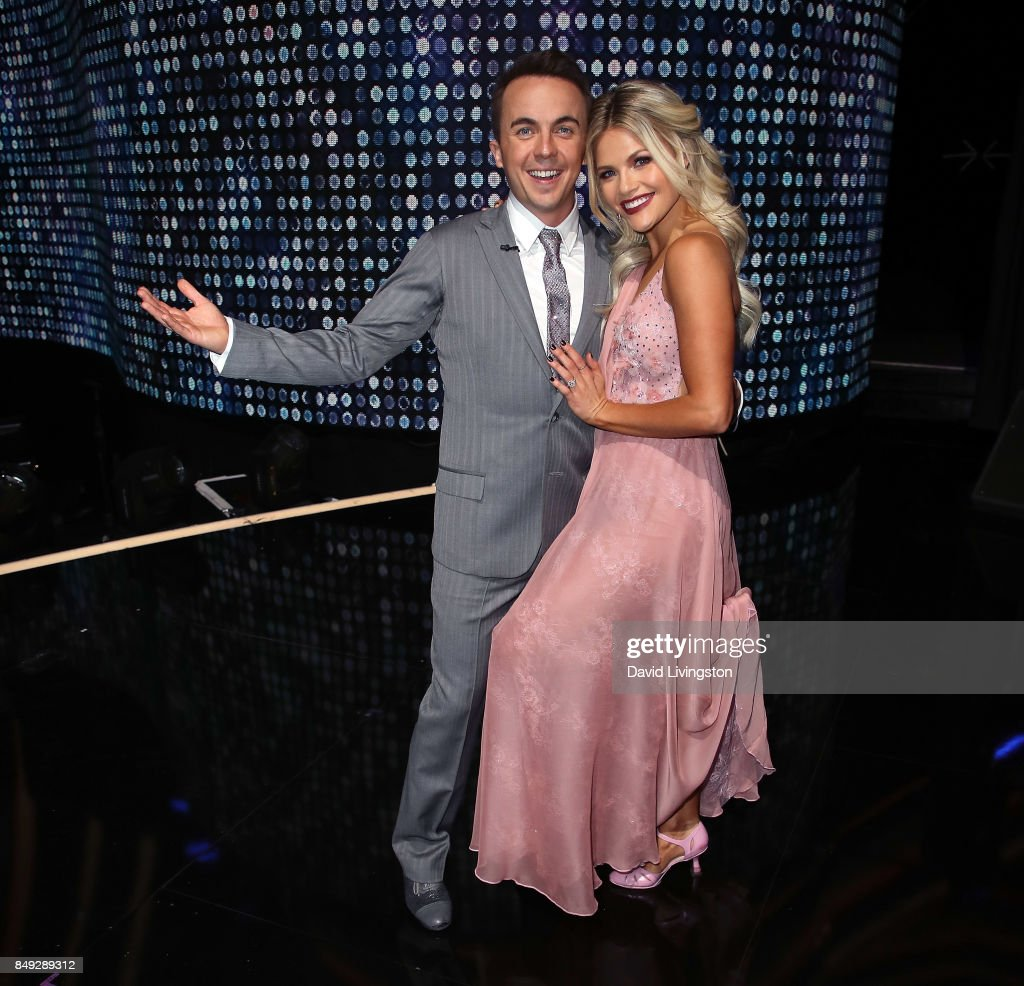 Actor Frankie Muniz (L) and dancer Witney Carson attend 'Dancing with the Stars' season 25 at CBS Televison City on September 18, 2017 in Los Angeles, California.