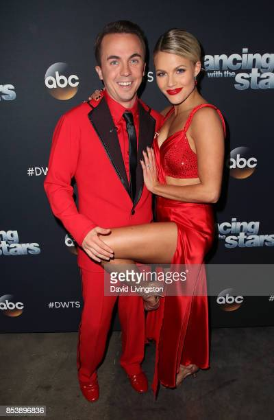 Actor Frankie Muniz and dancer Witney Carson attend 'Dancing with the Stars' season 25 at CBS Televison City on September 25 2017 in Los Angeles...